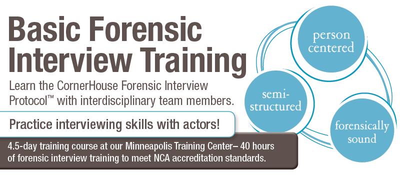 CornerHouse Basic Forensic Interview Training